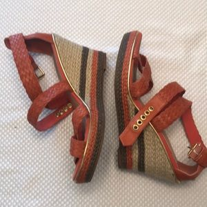 Sperry Top-Sider leather 9M wedge heels